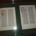First run, Gutenberg Bible